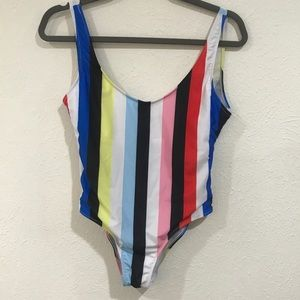 Other - Stripe one piece swimsuit 👙